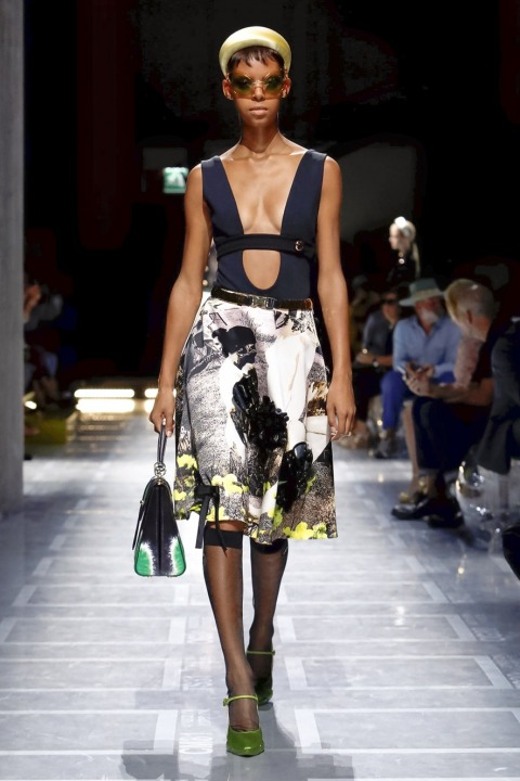 e3340766be Georgina Evans reports on the Prada show